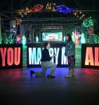 He Asked and She Said Yes! Las Vegas Couple Gets Engaged at Glittering Lights on Saturday, December 21