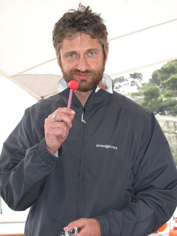 """Gerard Butler with Sugar Factory's """"Berry Bling"""" Couture Pop"""