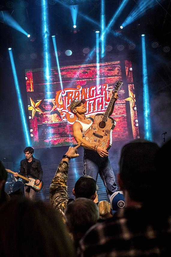 Granger Smith performs during Downtown Hoedown at Fremont Street Experience
