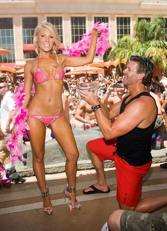 Gretchen Rossi with Slade Smiley at  TAO Beach