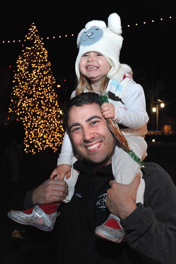 Guests enjoying Christmas Tree  in Symphony Park