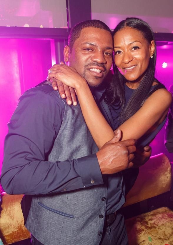 Hollywood Actor Mekhi Phifer with wife Reshelet Celebrate Brother-in-Law's Birthday at HAZE at ARIA