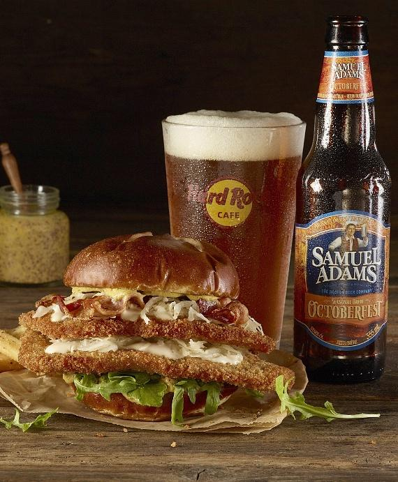 The Samuel Adams OctoberFest Schnitzel Burger