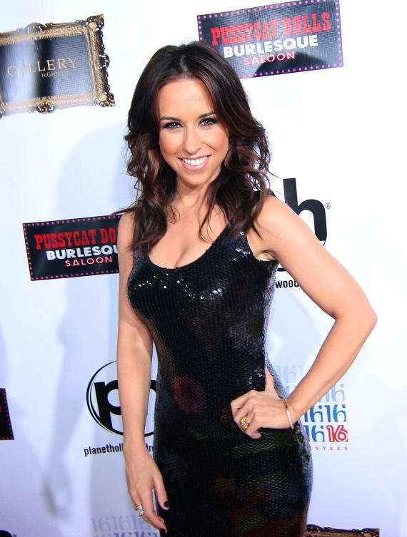 Lacey Chabert on red carpet at Gallery Nightclub
