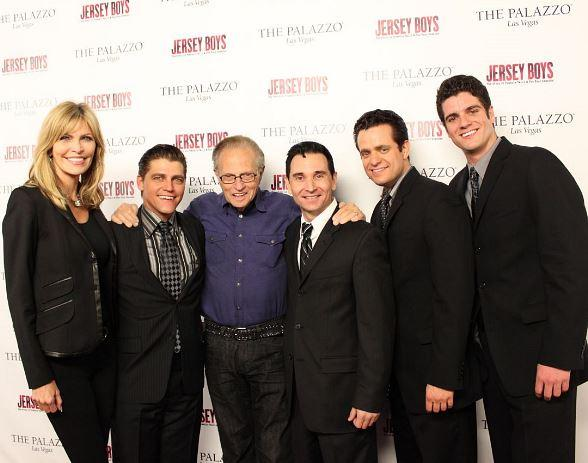 Larry King and Shawn King Attend Jersey Boys at The Palazzo