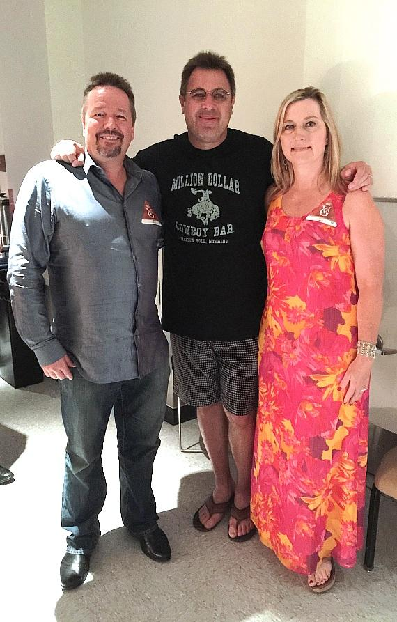 Terry Fator and fiancé Angie Fiore with Vince Gill