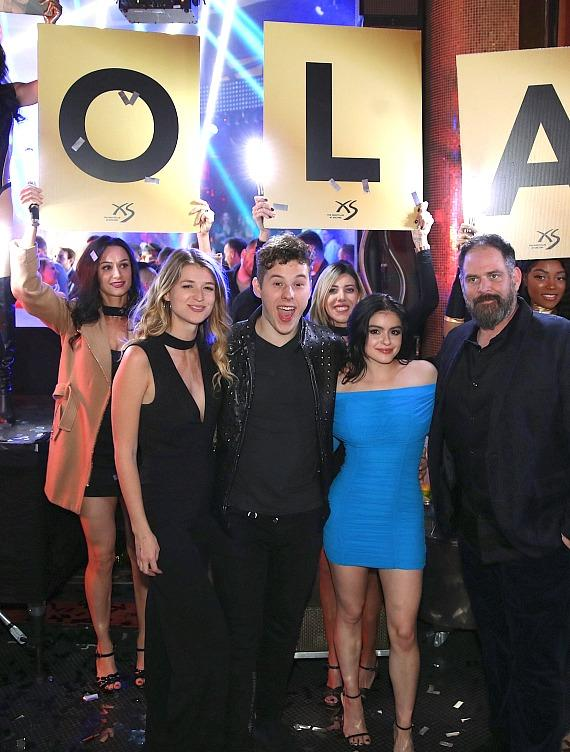Nolan Gould Celebrates 21st Birthday with Ariel Winter and Friends at XS Nightclub at Wynn Las Vegas
