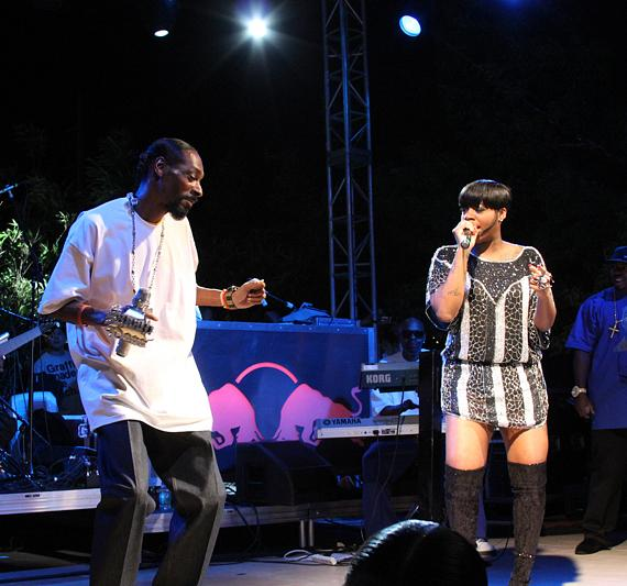 Snoop Dogg and Fantasia Barrino at Palms Pool & Bungalows