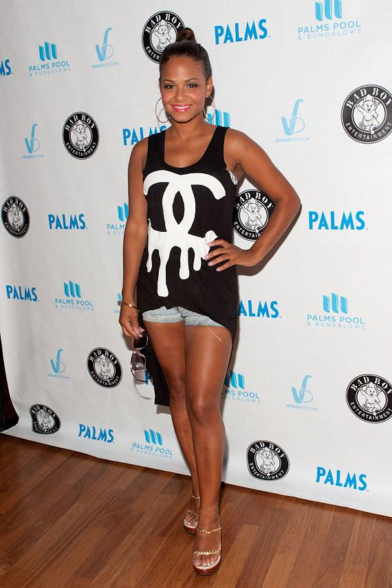 Christina Milian at Palms Pool & Bungalows