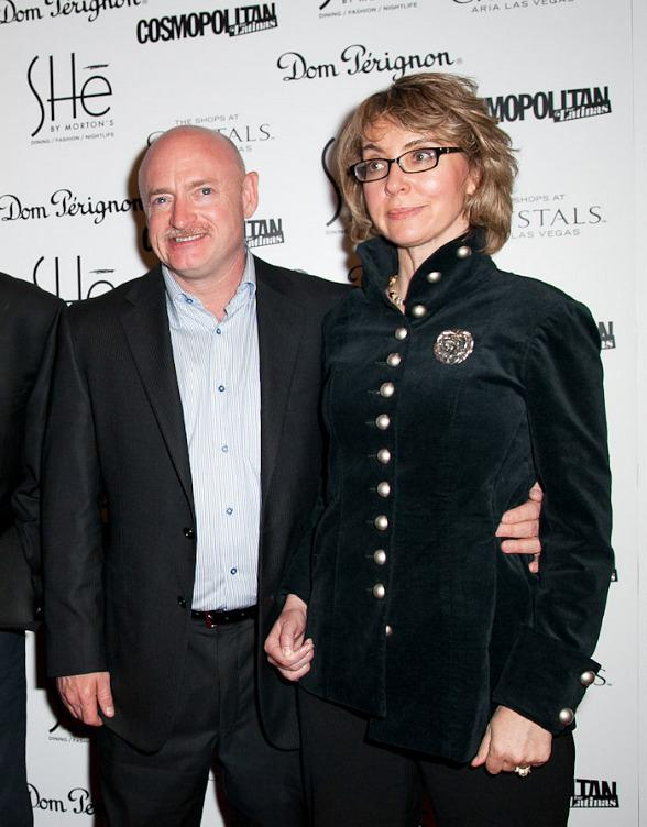 "Gabrielle ""Gabby"" Giffords and Mark Kelly at Grand Opening of SHe in Las Vegas"