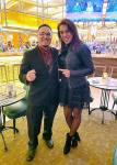 Joanna Jedrzejczyk posed for a photo with Cafe Americano's Assistant General Manager Jose