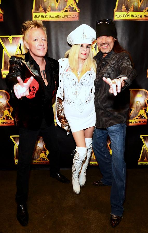 """James Kottak of The Scorpions, Sally Steele and Danny """"The Count"""" Koker"""