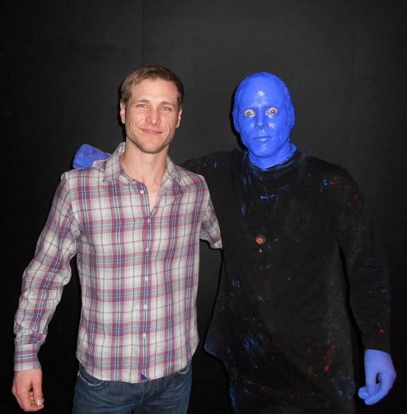 Jake Pavelka Visits the Blue Man Group Las Vegas