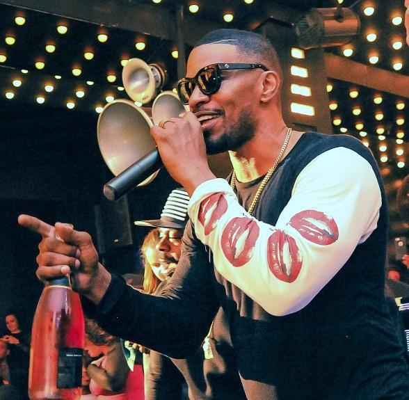 Award-winning Actor and Musician Jamie Foxx Performs at Temple Nightclub in San Francisco