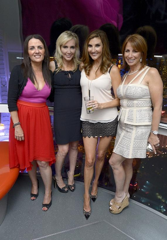 Television personalities Jenni Pulos Nassos, Shannon Beador and comedian Heather McDonald and television personality Jill Zarin