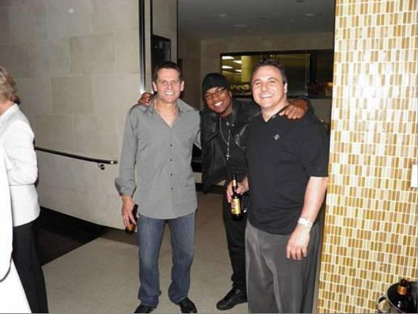 Joe Maloof, Ne-Yo and Gavin Maloof