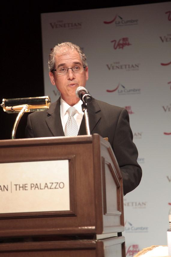 John Caparella, president and COO of The Venetian addresses crowd