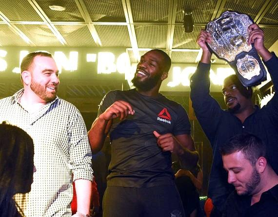 Jon Jones Celebrates Official Fight After-Party inside Ling Ling Club in Hakkasan Las Vegas