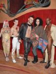 Jordin Sparks with cast members of Zumanity