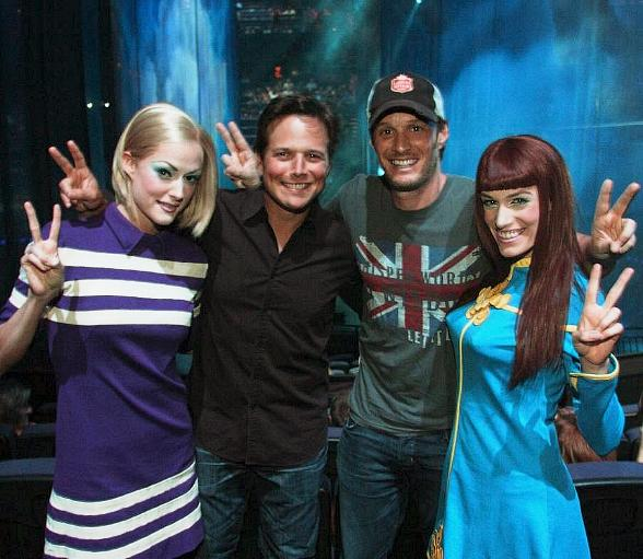 Comedian Josh Wolf and Actor Scott Wolf at The Beatles LOVE by Cirque du Soleil