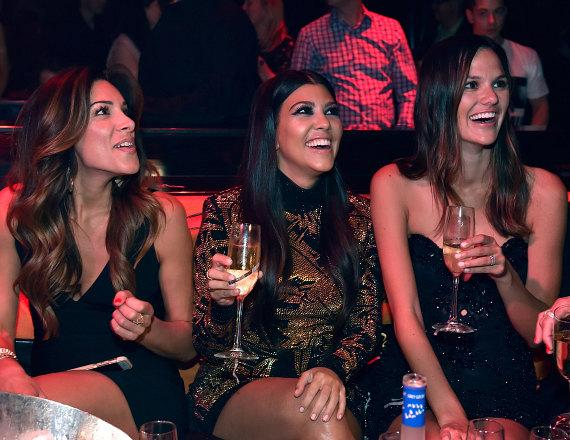 Kourtney Kardashian and friends at 1 OAK