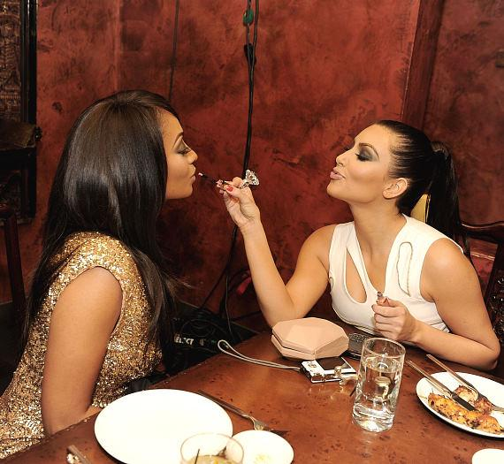 La La Vazquez and Kim Kardashian at TAO Asian Bistro
