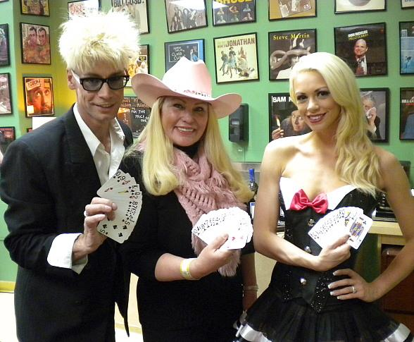 Pro Poker Player Lady Pink Visits Murray Backstage at The Laugh Factory at Tropicana Las Vegas