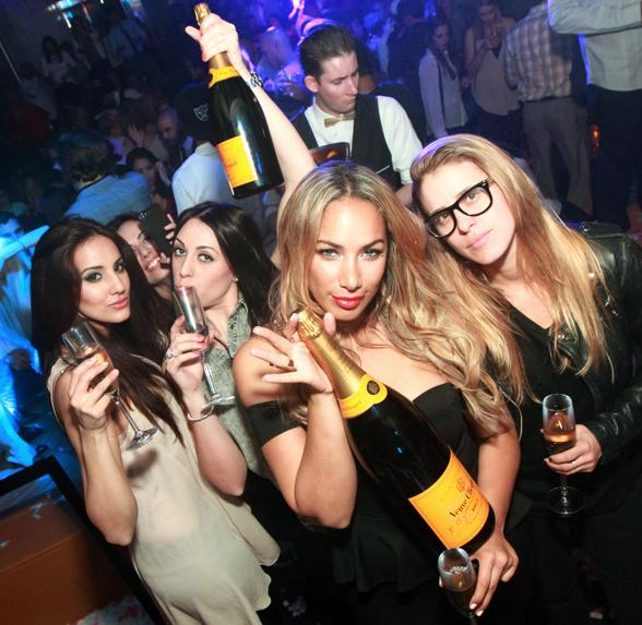Leona Lewis and friends at Hyde