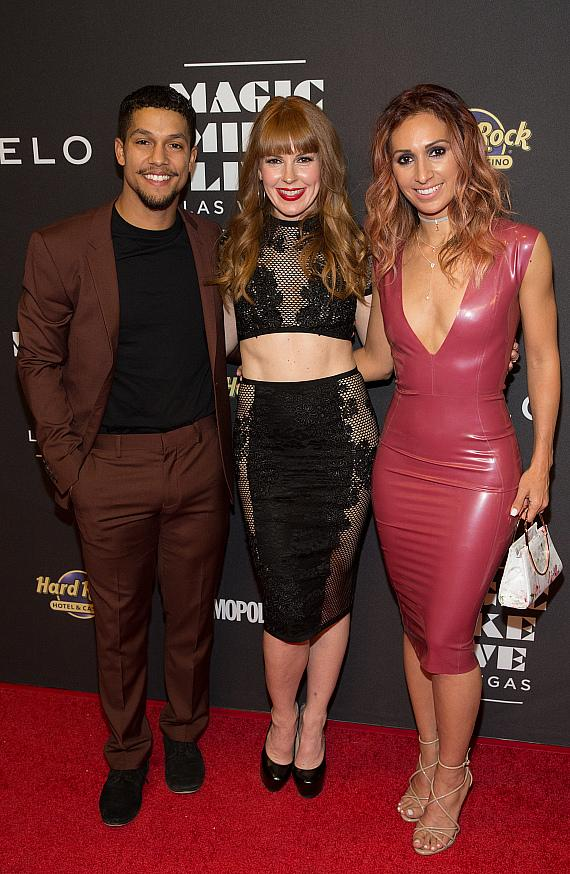 Choreographers Luke Broadlick, Alison Faulk and Teresa Espinosa at Opening Night at Hard Rock Hotel & Casino