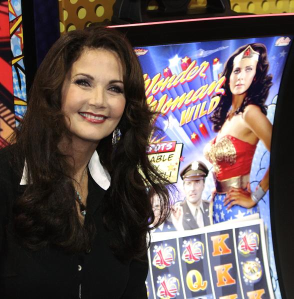 Legendary Heroine Lynda Carter Unveils Bally Technologies' Wonder Woman Machines at G2E in Vegas