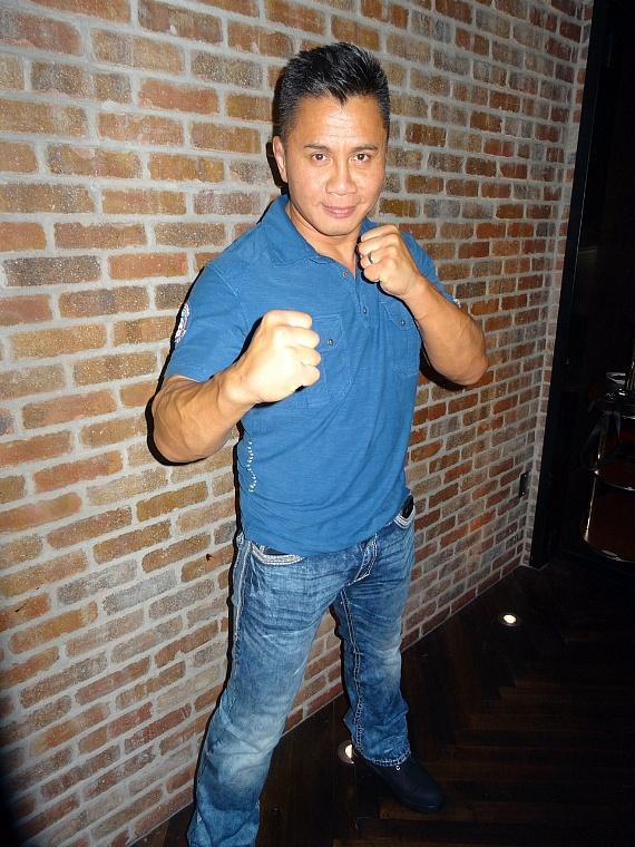 MMA Actor Cung Le at Andiamo Italian Steakhouse in the D Casino Las Vegas