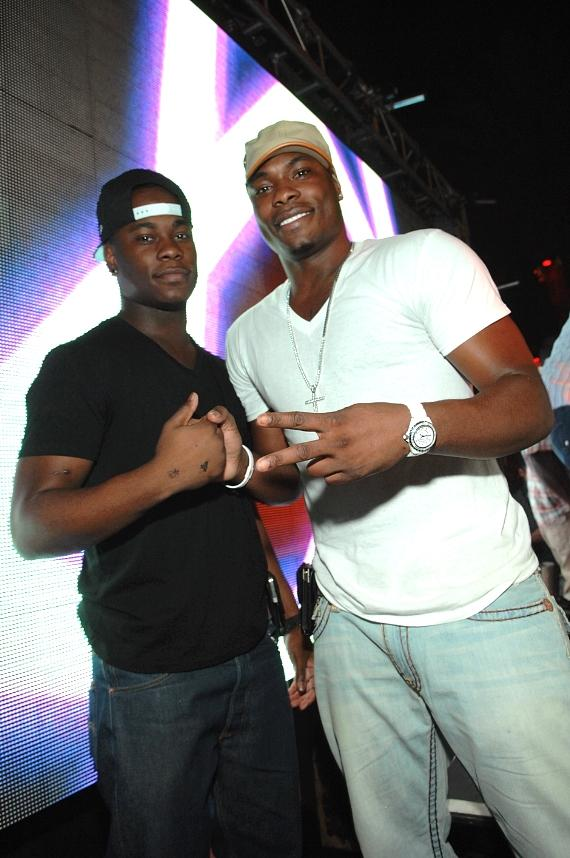 Marcus Banks and friend at Surrender Nightclub