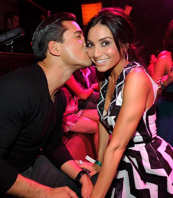 Mario Lopez and Courtney Mazza at LAVO