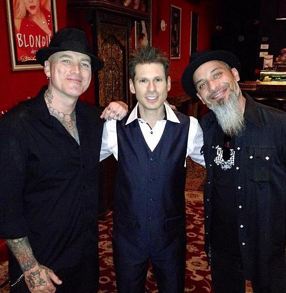 Dirk Vermin, Mike Hammer and Rob Ruckus inside the Canyon Club at Four Queens Hotel Las Vegas