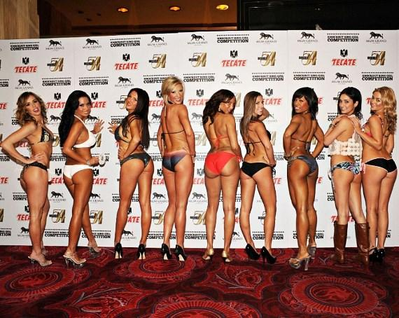 Miss Knockout contestants on stage at Studio 54 Las Vegas