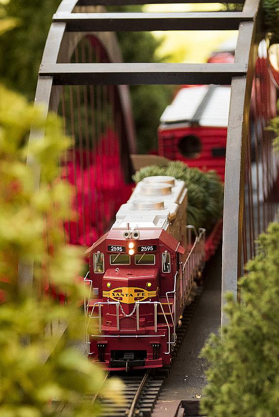 Model Trains at Bellagio Conservatory