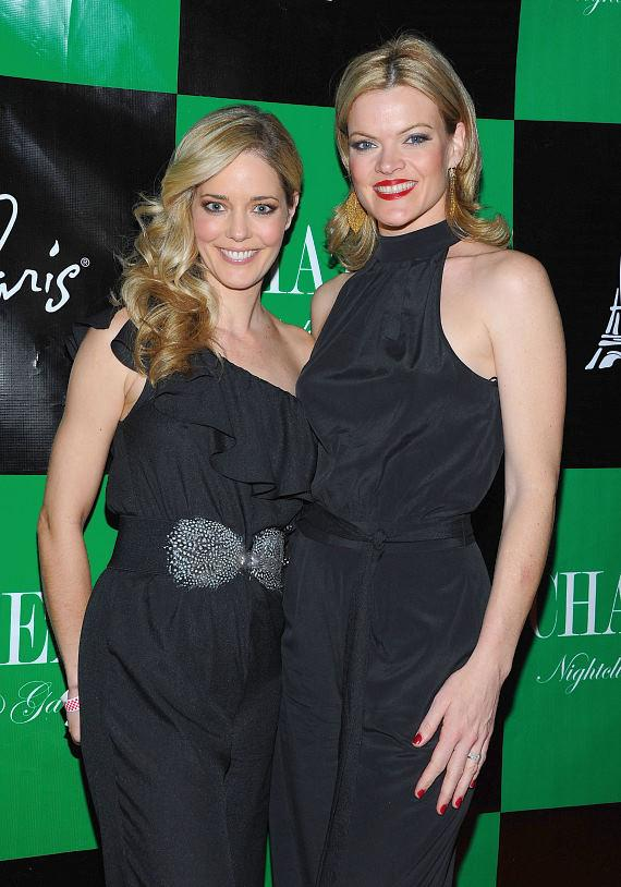 Christina Moore and Missi Pyle walk the red carpet at Chateau Nightclub & Gardens