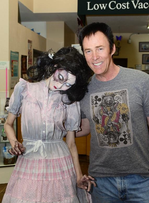 Magician Lance Burton with ghoul from Fright Dome in Las Vegas