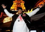 Nick Cannon stands tall at Chateau Gardens with Paris Las Vegas Eiffel Tower in the background