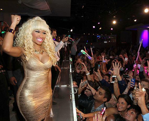 Nicki Minaj performs at PURE Nightclub