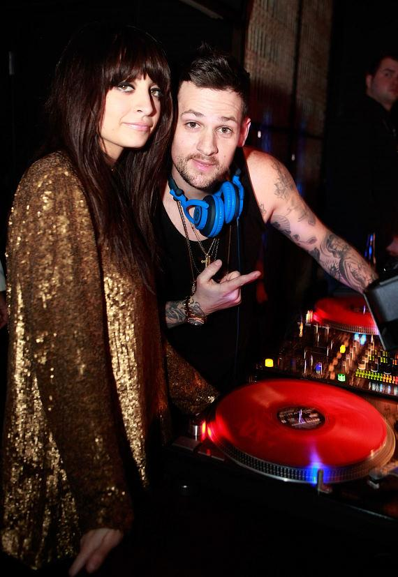 Nicole and Joel in the DJ Booth at LAVO at the Palazzo's New Year's Eve celebration