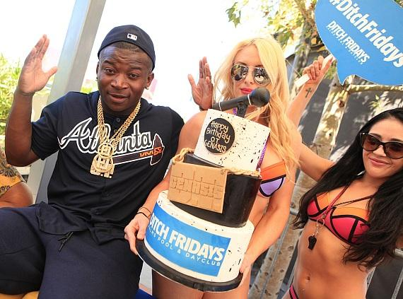 OT Genasis presented with birthday cake at Ditch Fridays
