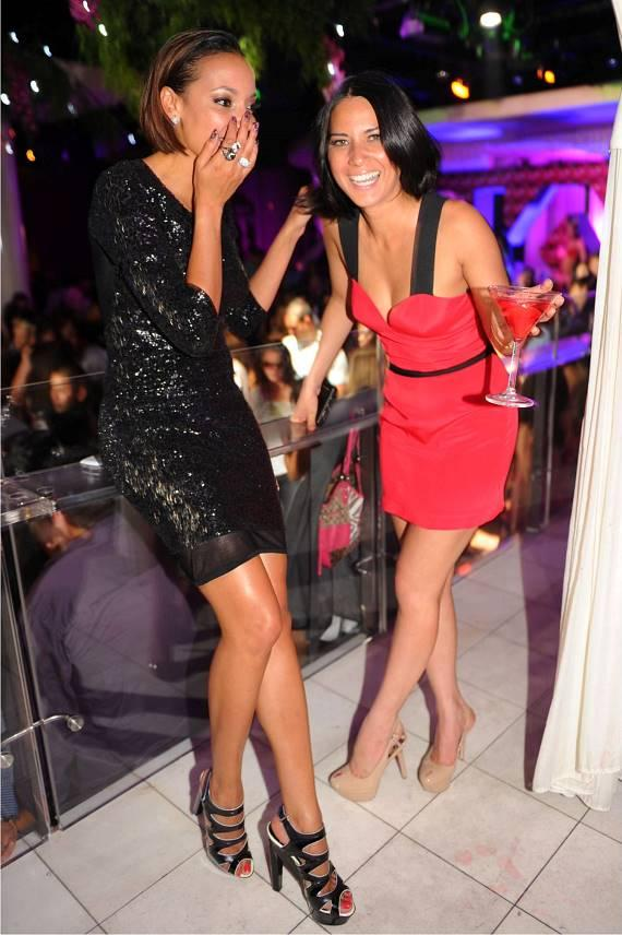 Olivia Munn and Selita Ebanks at PURE Nightclub