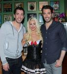 Chloe Crawford with the Property Brothers, Jonathan & Drew Scott