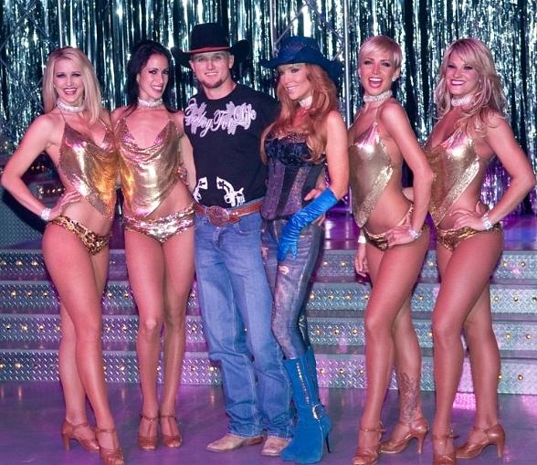 PBR's Ryan McConnel with Angelica Bridges and cast of FANTASY