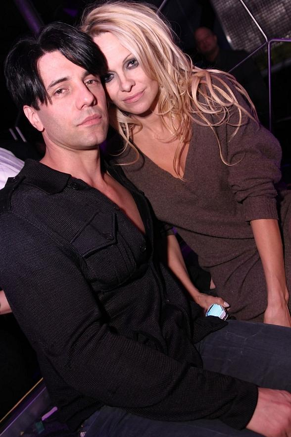 Pam Anderson with Criss Angel at Moon Nightclub