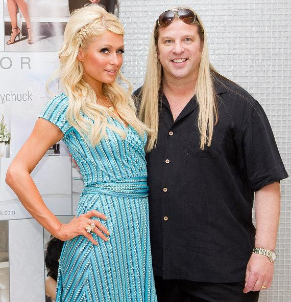 Paris Hilton and Michael Boychuck at COLOR Salon