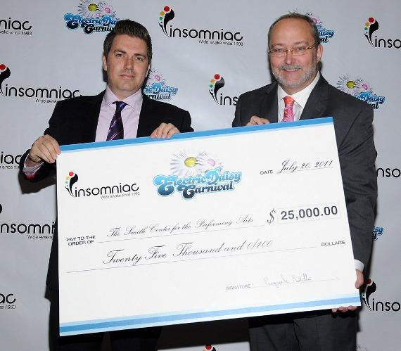 Pasquale Rotella, Myron Martin - EDC Check Presentation to The Smith Center for the Performing Arts