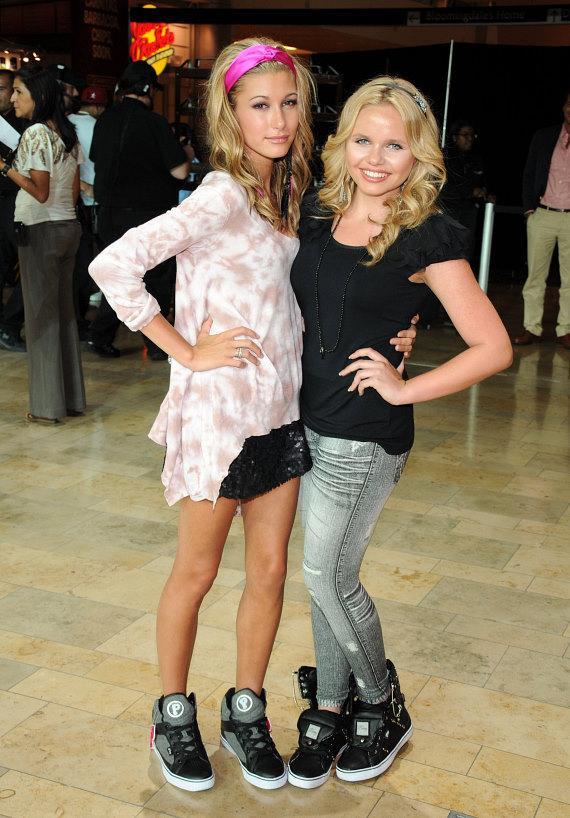 Hailey Baldwin and Alli Simpson at Pastry Shoes fashion show in Las Vegas