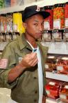 Pharrell shops for sweets at Sugar Factory at Paris Las Vegas